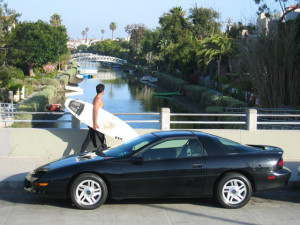 The Camaro. That is not Tim in the background with the surfboard, no matter what he might say. Photo courtesy CC - Wikipedia